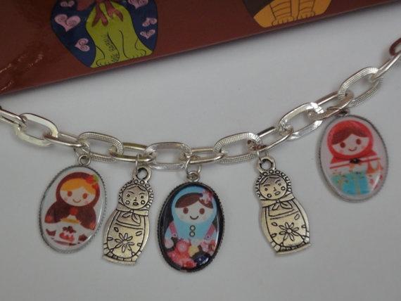 Nesting dolls etsy necklace