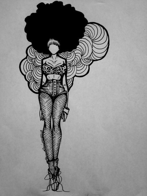 NATURAL HAIR ART... in the future my Fro WILL be this big
