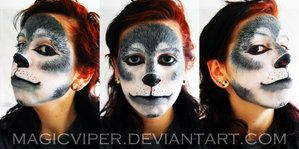 lion king hyenas face painting | Wolf by MagicViper