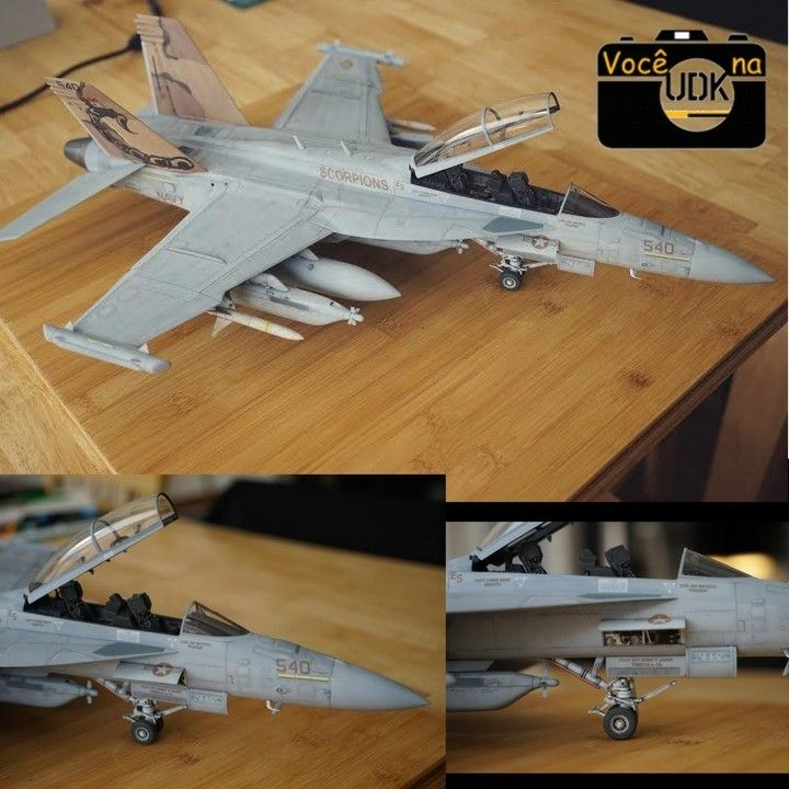 "EA-18G Growler ""VAQ-132 Scorpions""  Trumpeter 1/32  By: Anthony Wan (@_anthonywan_)  too many PE resin scratchbuild. Custom-made markings.  This is a great job by  Anthony Wan. Congrats Anthony and thanks for sharing you job. : )  #udk #vcnaudk #airplane #aircraft #war #guerra #trumpeter #miniatura #miniature #miniatur #usinadoskits #hobby #instahobby #aeronave #avião #scalemodel #scale"