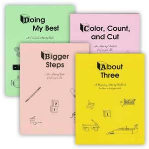 Set of 4 Preschool Activity Workbooks - (Rod & Staff Publishing) - for Ethan and I to work thru at home on Tues & Thurs mornings. Ages 3-4.