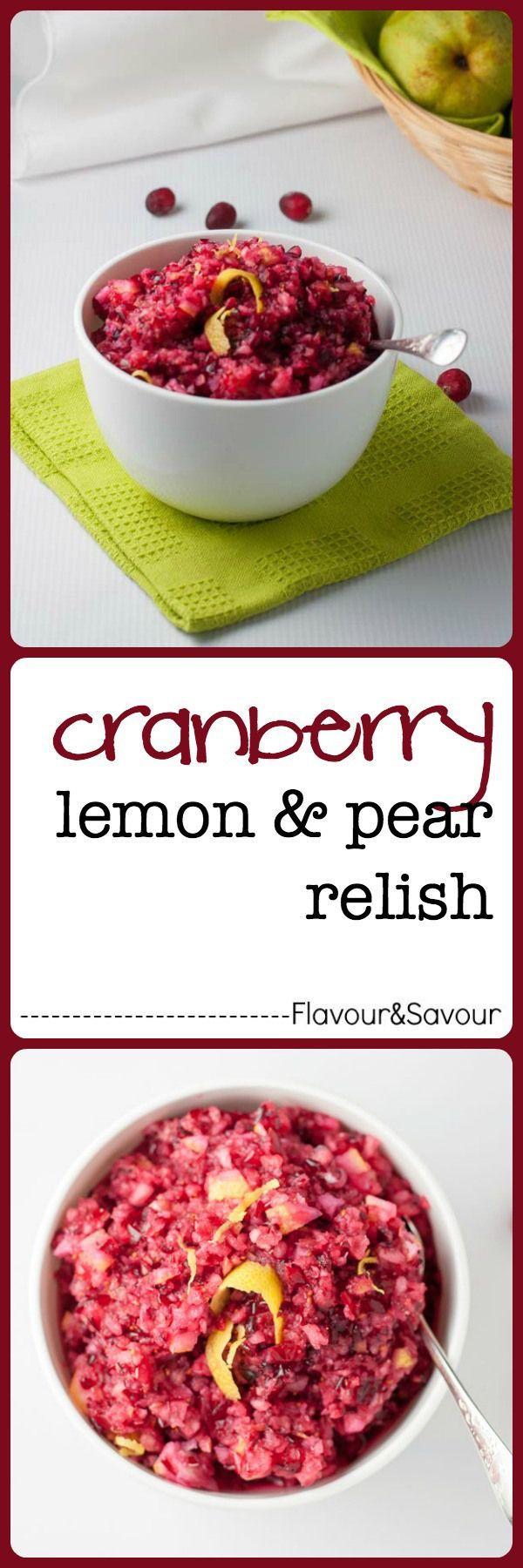 Cranberry Lemon And Pear Relish