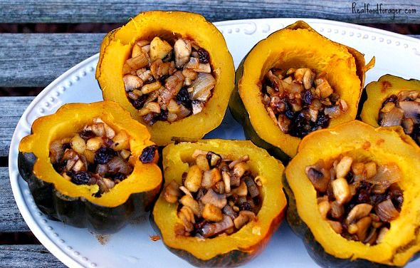 Stuffed Spiced Acorn Squash GF - remove a couple of things to make it GAPS legal