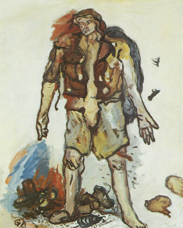 Georg Baselitz - Partisan (1965) at 1987's Art Of Our Time, The Royal Scottish Academy, Edinburgh.