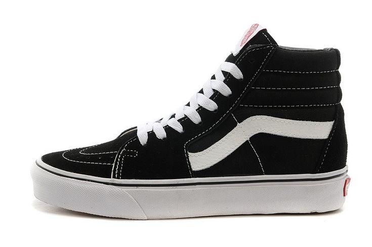 Vans Classic Sk8 Hi Suede&Canvas Skate Shoes - Black/White