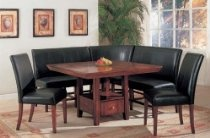 6pc Dining Table & Parson Chairs Espresso Finish Set