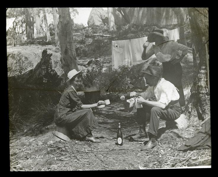 Mountain life, 1890'-1900's. Mt Buffalo. Photo by Alice Manfield (1878 -1960)