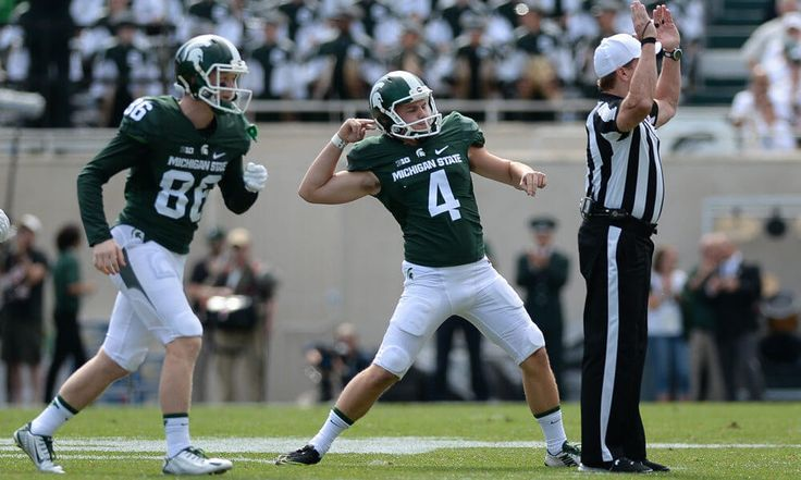 Michigan State kicker Michael Geiger mimics celebration at graduation = You may remember Michigan State kicker Michael Geiger, who did a rather legendary windmill celebration back in 2015 when his field goal beat Ohio State. Well, he graduated this past weekend, and he broke out the maneuver again…..