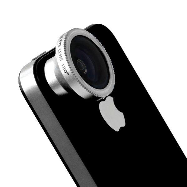 Lente Fisheye Olho de Peixe 180 graus  Super Gadgets para Celular Tablet  - Super Gadgets