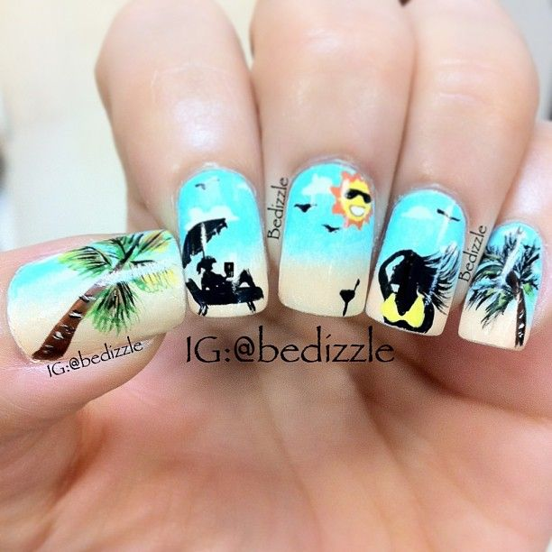 Inspiration on Summer Time Beach Nails: Relaxation by Beth Hudson. Check  out more Nails on Bellashoot. - Best 25+ Summer Beach Nails Ideas On Pinterest Beach Nails