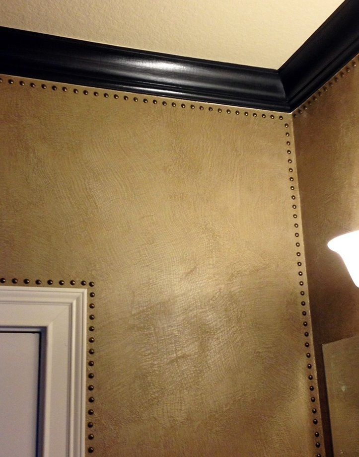 Texas artist Karla Boddie created a beautiful texture with Metallic Plaster and used nailheads for the finishing touch!