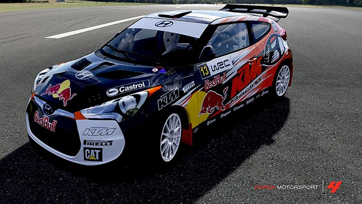 # 37 Hyundai Veloster Racing FC in the window of Forza Motorsport 4