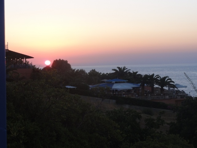 SUNSET FROM STELLA BEACH TERRACE