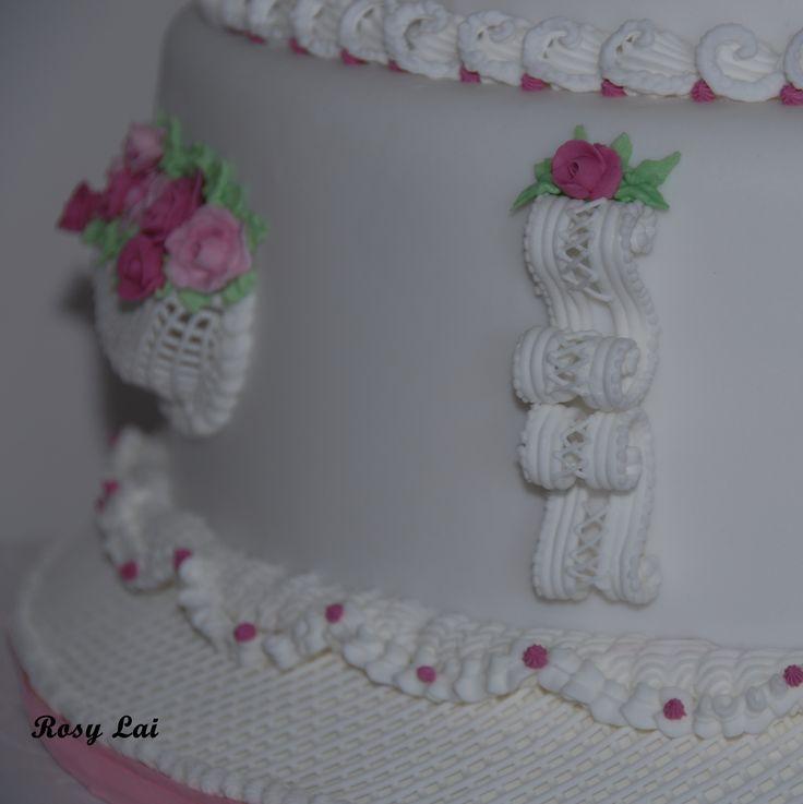 Lambeth style cake-La delicatezza delle rose