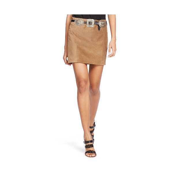Polo Ralph Lauren Suede Miniskirt ($498) ❤ liked on Polyvore featuring skirts, mini skirts, mini skirt, suede mini skirt, sexy short mini skirts, beige mini skirt and suede skirt