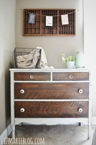How to strip painted furniture & a dresser makeover