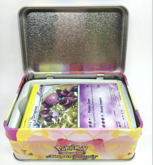 42 Piece Tin Box/The New Pikachu Pocket Monster/Pokemon Tin Box English Pokemon Trading Cards
