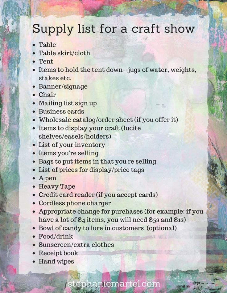 Wondering how to get yourself ready for a craft show? Click through for a simple outline that will have you ready to sell your items successfully at your first craft show!