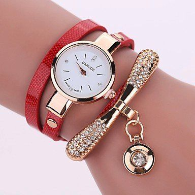 Modieuze dames horloge met goud kleur kwarts