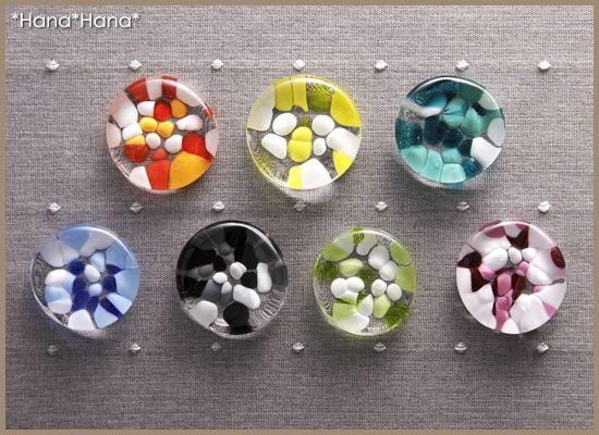 【楽天市場】ガラス・津軽びいどろ/ガラスはしおき・ドット:Primitive 陶舎花*花