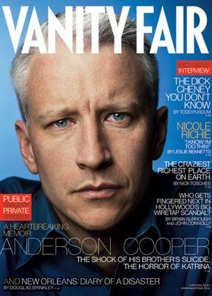 """Anderson Cooper's Private Storm,"" Vanity Fair June 2006 cover story (Photo: Annie Leibovitz)"