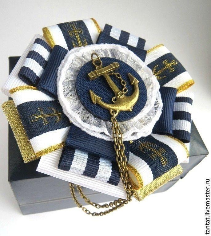 Купить Коллекция брошей Marine. - тёмно-синий, брошь, брошки, брошь-орден