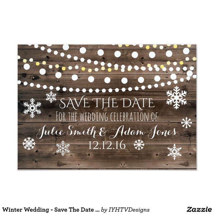 """Winter Wedding - Save The Date Card Add your custom wording to this design by using the """"Edit this design template"""" boxes on the right hand side of the item, or click the blue """"Customize it"""" button to arrange the text, change the fonts and colours and to also add additional information or images to this design. ****For custom order, do not place this merchandise in your cart. Instead, click on the """"contact seller"""" button and email me your request. A link to your merchandise will be emailed to yo"""