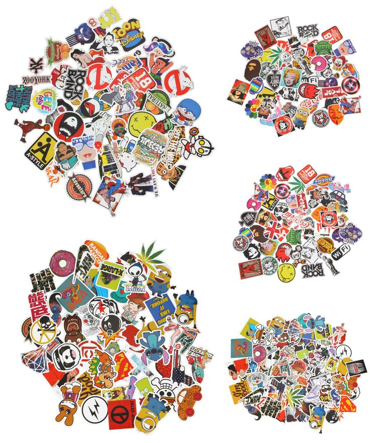 [Visit to Buy] 50x Bike Stickers Street Art Stickers Decal Vinyl Skate Snow Surf Board Laptop Guitar #Advertisement