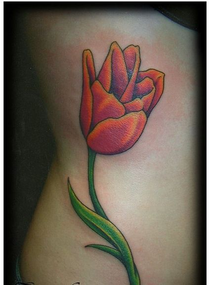 42 Best Realistic Tulip Tattoo Images On Pinterest | Tulip ...