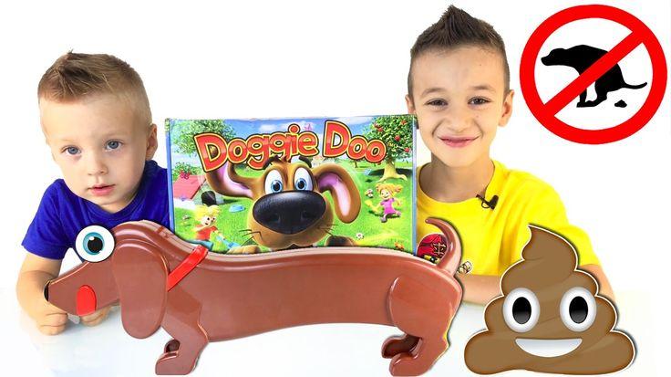 КАКАШКИ ЧЕЛЛЕНДЖ !! Пукающая и Какающая Собака Ду и ее какашки  DOGGIE DOO Dog Pooping Game - YouTube