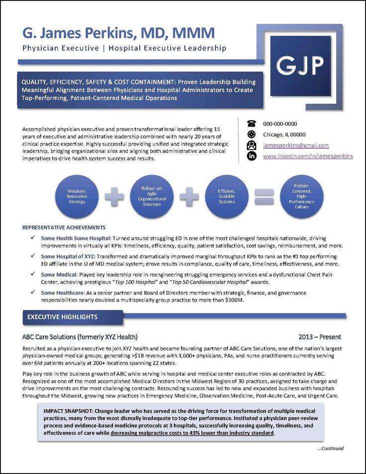 Awardwinning executive resume examples executive resume