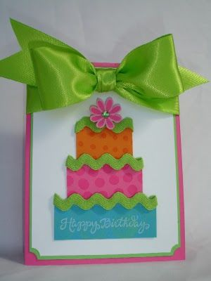 Such a girlie birthday card :)  Perfect for any girl!