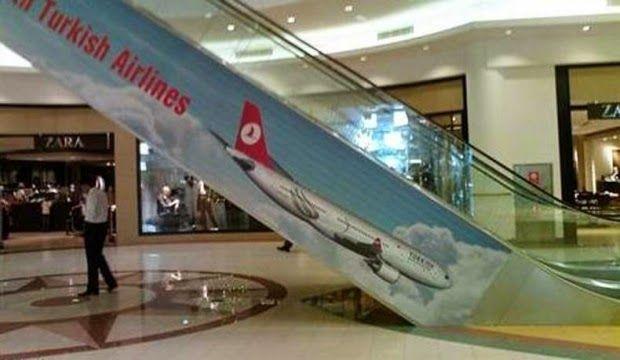 Anuncio desafortunado de aerolinea