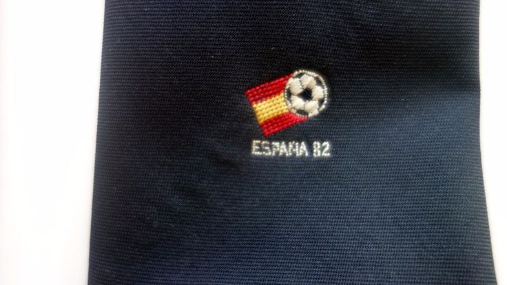 Tie Marking The 1982 FIFA World Cup In Spain Soccer  | eBay
