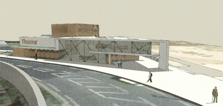 Performance space/Theatre, Architecture project, BA1