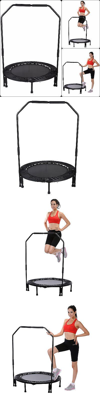 Balance Trainers 179803: Mini Foldable Trampoline With Bar Urban Rebounder Gym Bouncing Exercise Workout BUY IT NOW ONLY: $69.99