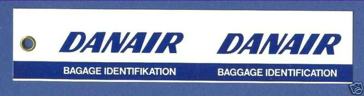 DANAIR Danish Airlines Baggage Tag