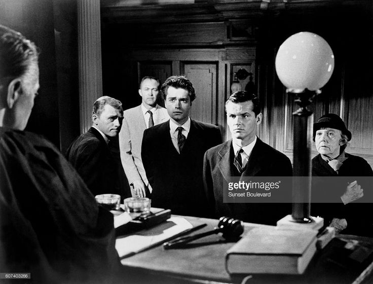 American actors Christopher Knight and Jack Nicholson on the set of Studs Lonigan, based on the novel by James T. Farrell, and directed by Irving Lerner.