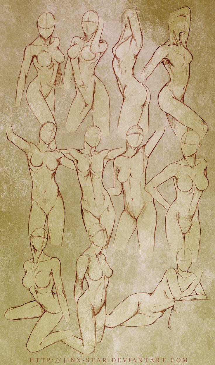 +FEMALE BODY STUDY+ by jinx-star.deviantart.com on @deviantART