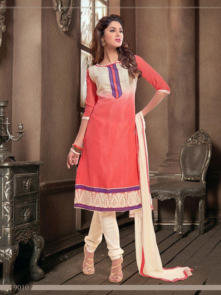 Jaqard Elegant Office Wear  Semi Stitched Salwar Kameez - http://member.bulkmart.in/product/jaqard-elegant-office-wear-semi-stitched-salwar-kameez-8/