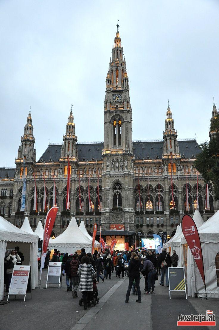 Венская ратуша на день города. #Вена #Австрия #Vienna #Austria