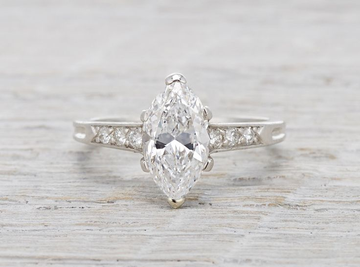 1.41 Carat Vintage Tiffany & Co. Marquise Engagement Ring
