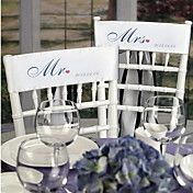 """Personalized Taffeta """"Mr and Mrs"""" Chair Sashe... – USD $ 16.99"""