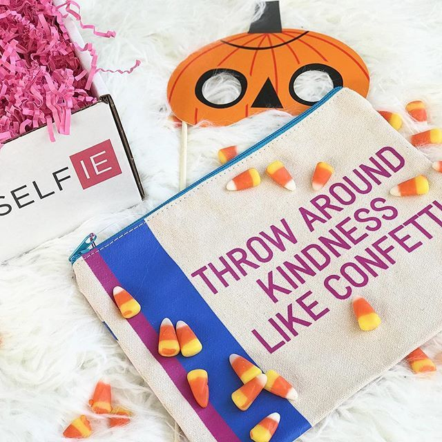 Being kind is a   BOO-tiful thing...and so is an awesome one day sale {visit our website} for the scar(ie) details  .  .  #halloween #pumkins #candycorn #nationalcandycornday #kindness #bekind #confetti #scary #beyourself #subscriptionbox