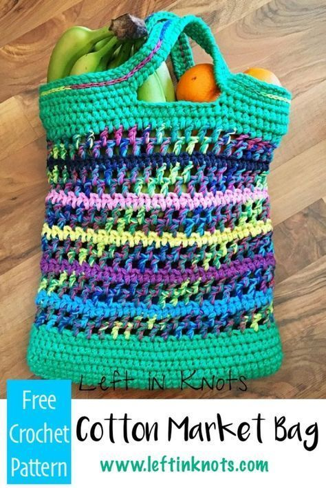 Double Strands Of Cotton Yarn Make This Free Crochet Pattern Work Up