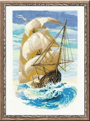 COUNTED CROSS STITCH KIT RIOLIS - SAILBOAT