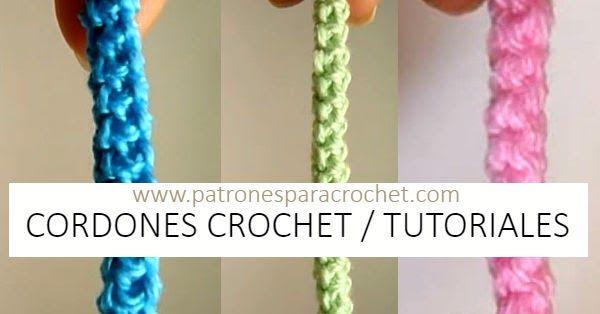 Cordones tejidos con ganchillo para usar en prendas, asas de bolsos, cintos y cualquier prenda tejida o de tela.