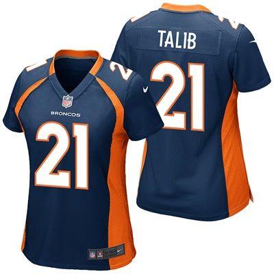 Denver Broncos Alternate Game Jersey - Aqib Talib - Womens: Denver Broncos Alternate Game Jersey - Aqib Talib - Women's  Celebrate your…