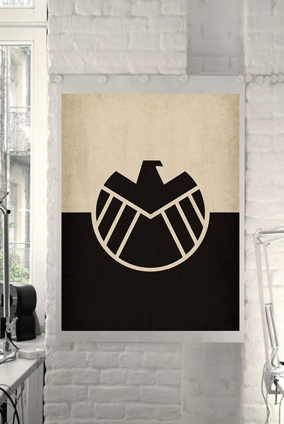 "Marvel Comic Store Superheroes Minimalist ""Avengers Agents of Shield"" Art Poster - Retro Style Home Decor Wall Art DC Universe"