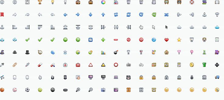 Sweet16s » A super complete 16x16 icon set by Yummygum